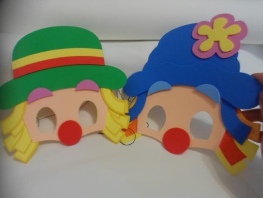Lembrancinhas Patati Patatá máscara EVA