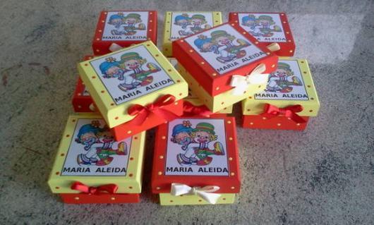 Lembrancinhas Patati Patatá MDF decoupage