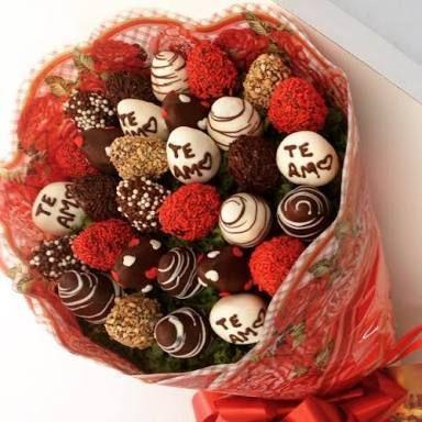 Buquê com chocolates em vez de flores