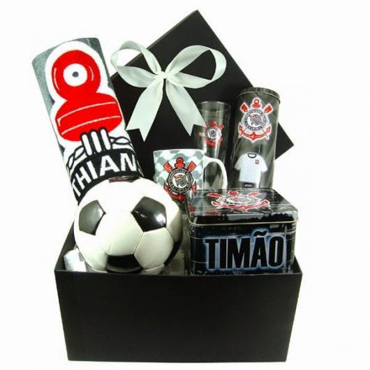 kit de presentes de time de futebol, como o Corinthians em exemplo