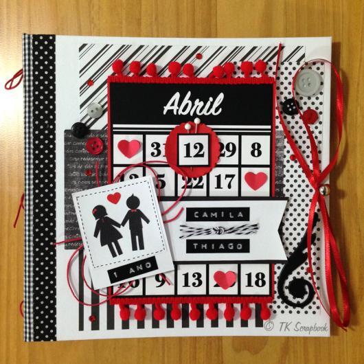 Scrapbook de aniversário de 1 ano de namoro