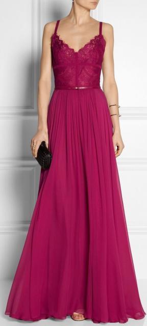 vestido de formatura rosa pink com renda na parte de cima