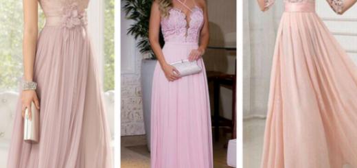 vestidos de formatura rosa claro com renda