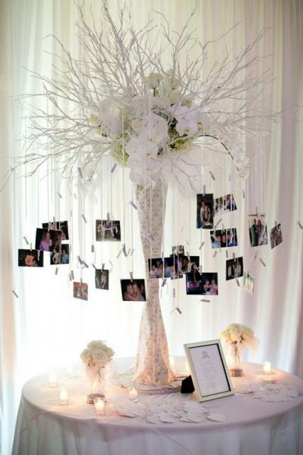 árvore de fotos do casal