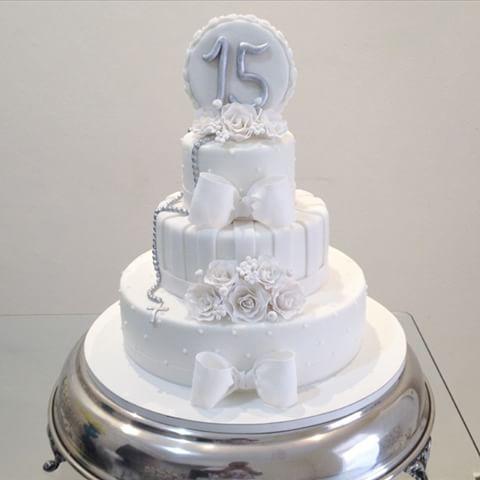 bolo para aniversário de 15 anos de casamento