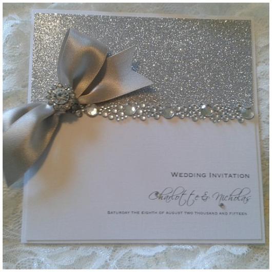 convite com brilho para bodas de cristais