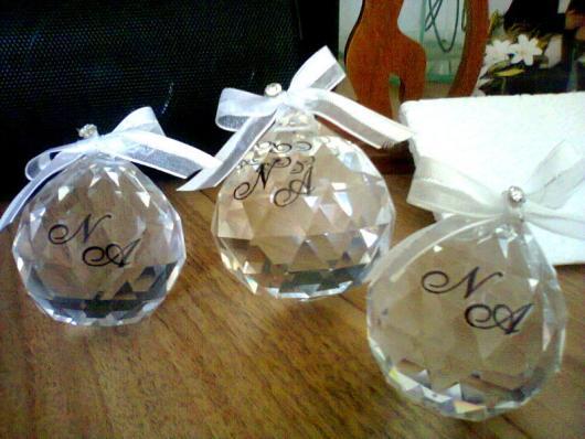 cristais personalizados para lembrancinha