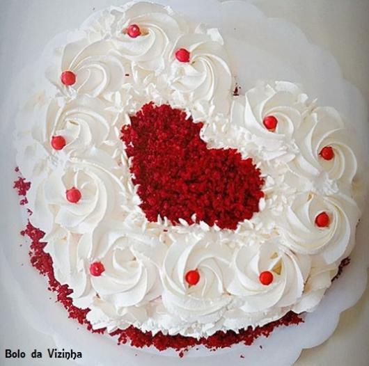 bolo red velvet coração