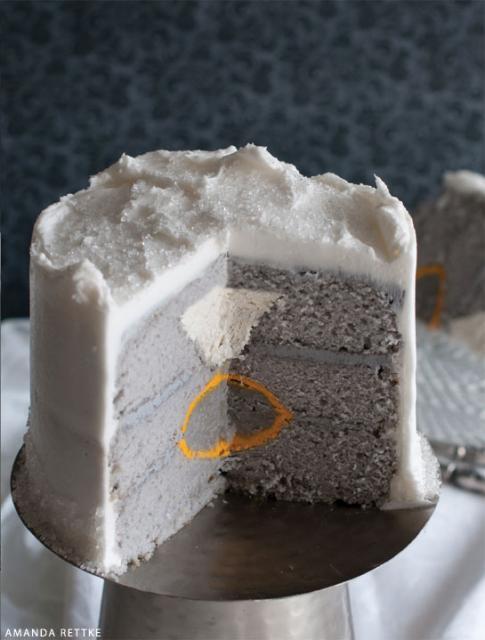 bolo com anel de noivado