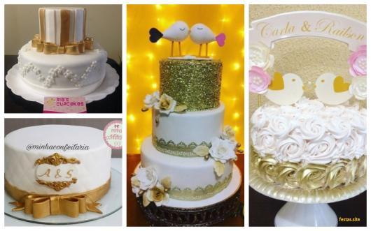 ideias bolo dourado
