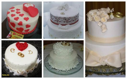 bolo com alianças