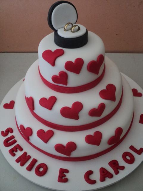 alianças no bolo