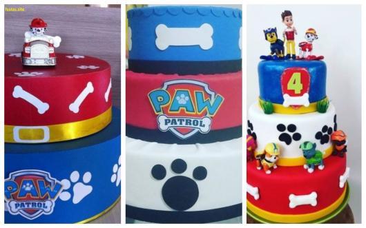 ideias bolo patrulha canina