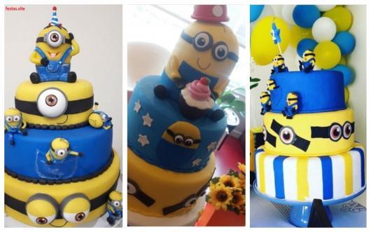 ideias bolos dos Minions
