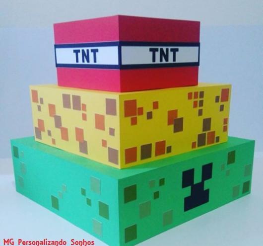 bolo quadrado Minecraft