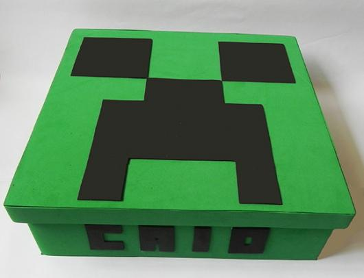 Bolo Fake Minecraft simples
