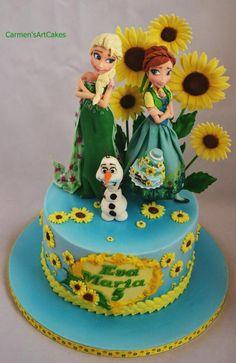 bolo de pasta americana do Frozen Fever