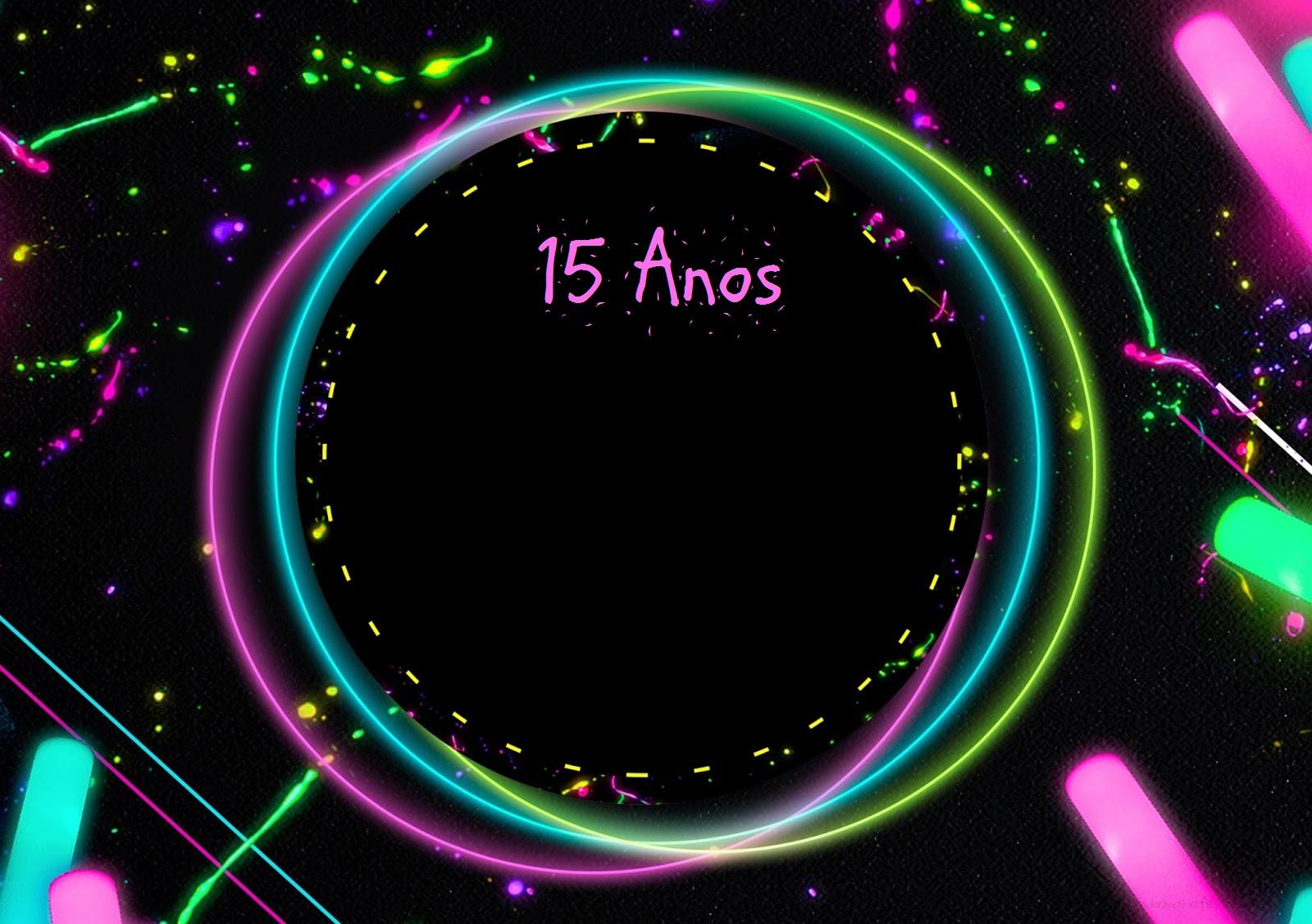 convite neon