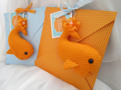 Convites fundo do mar feito de feltro
