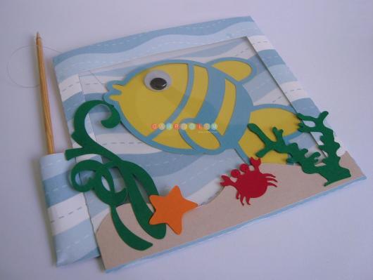 Convites fundo do mar pescar peixinho