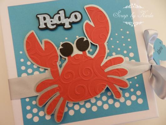 Convites fundo do mar scrapbook caranguejo
