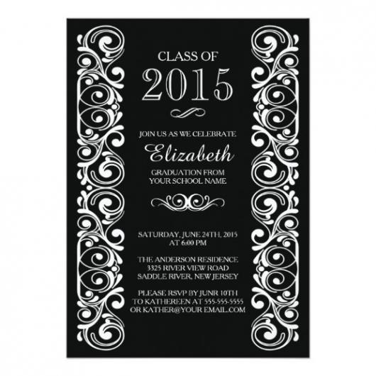 convites preto e branco de formatura