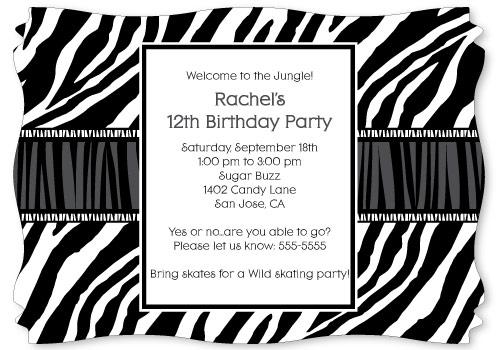 convites preto e branco festa safari