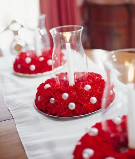 Decoração com papel crepom flores para mesa