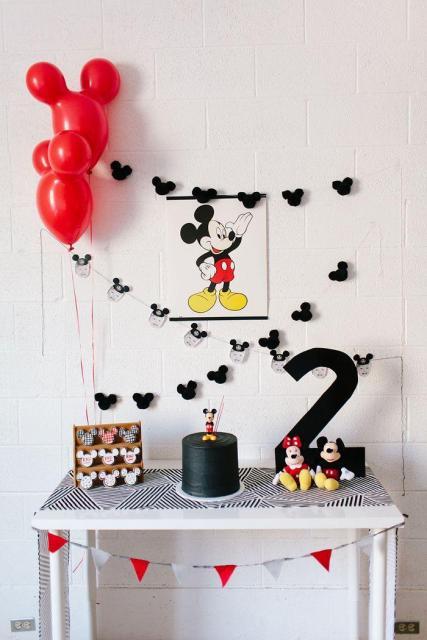 balões em formato do Mickey