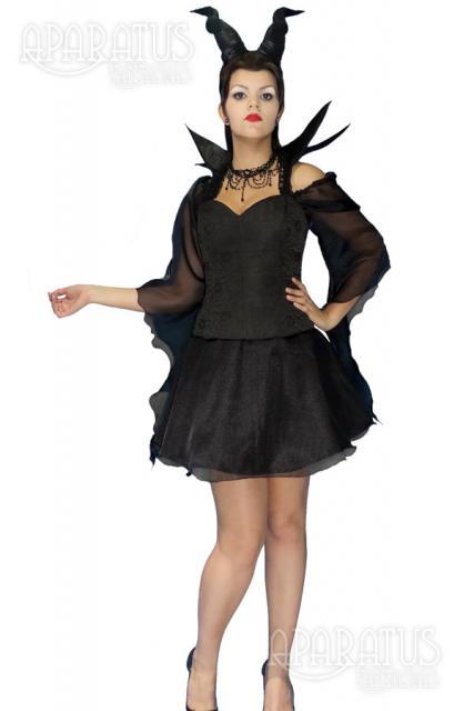 Fantasia Malévola com vestido curto rodado
