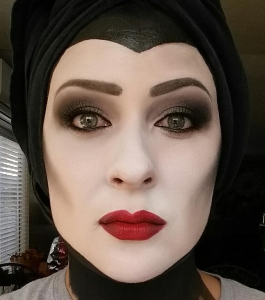 Fantasia Malévola maquiagem