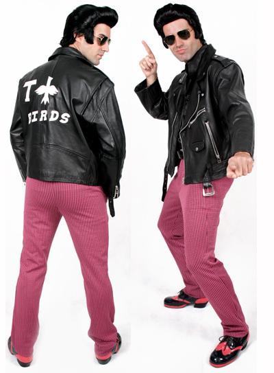 Fantasias anos 60 masculinas jaqueta com fivelas