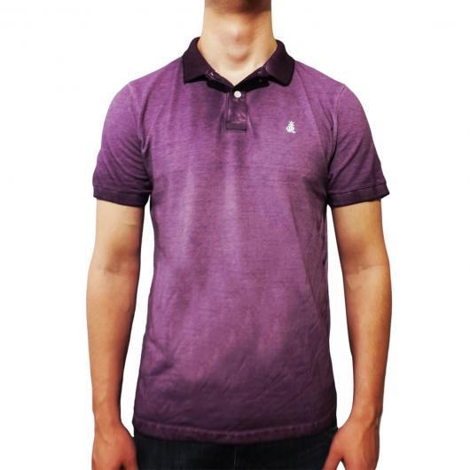 Fantasias anos 60 masculinas camiseta polo roxa