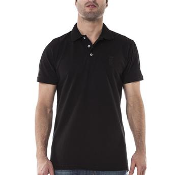Fantasias anos 60 masculinas camiseta pólo preta