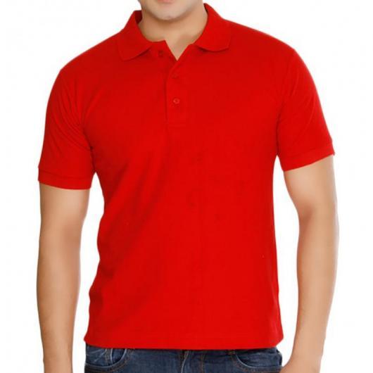 Fantasias anos 60 masculinas camiseta pólo vermelha