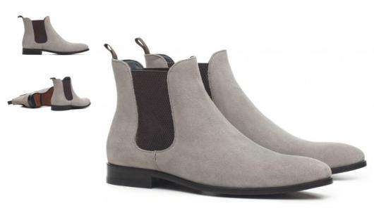 Fantasias anos 60 masculinas bota cinza