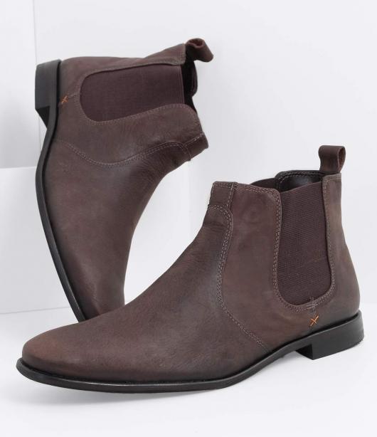 Fantasias anos 60 masculinas bota marrom