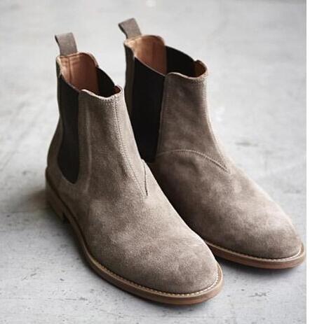 Fantasias anos 60 masculinas bota bege