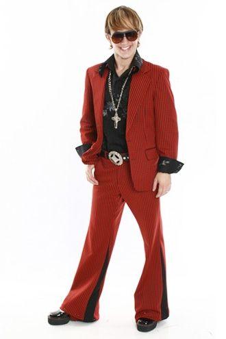 Fantasias anos 60 masculinas paletó vermelho