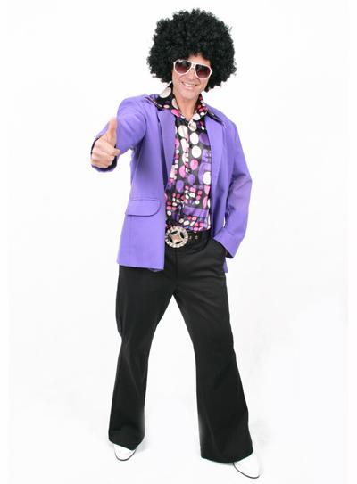 Fantasias anos 60 masculinas paletó roxo