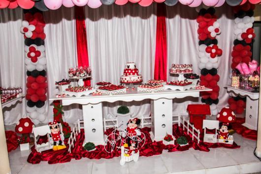 Festa da Minnie vermelha decoração grande festa 1 ano