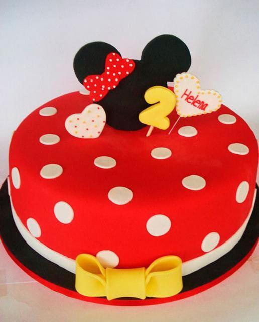 Festa da Minnie vermelha bolo pasta americana