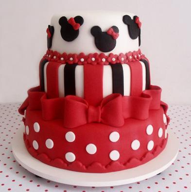 Festa da Minnie vermelha bolo comestível