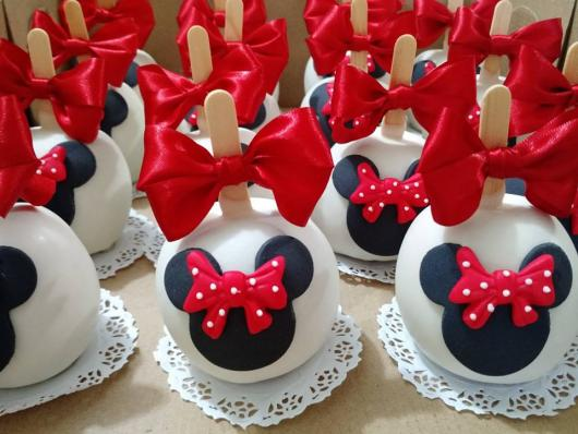 Festa da Minnie vermelha maçã do amor