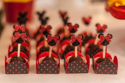 Festa da Minnie vermelha brigadeiro personalizado