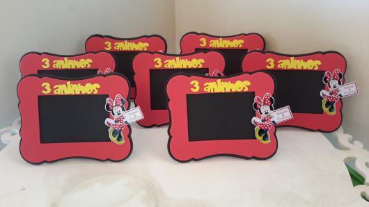 Festa da Minnie vermelha porta retrato