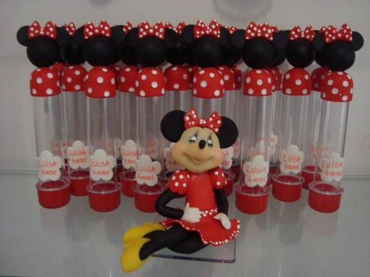 Festa da Minnie vermelha lembrancinha tubete