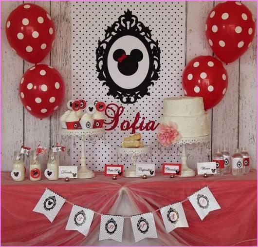 Festa da Minnie vermelha decoração fácil