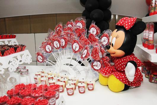 Festa da Minnie vermelha boneca Minie baby para decorar