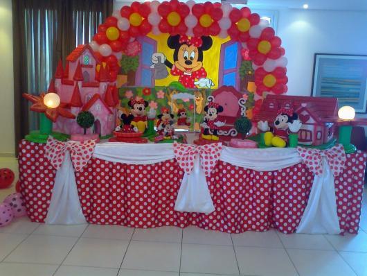 Festa da Minnie vermelha baby com castelo